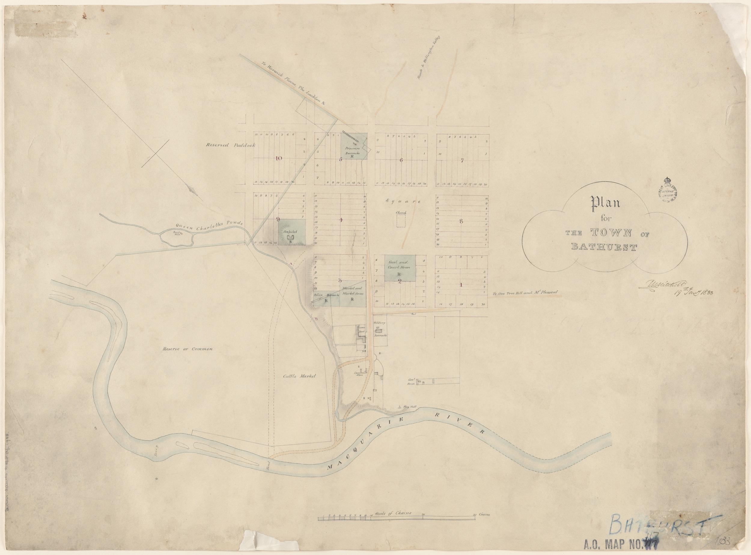 Map Of Australia 1830.Westward Ho Expansion Beyond The Blue Mountains To Bathurst