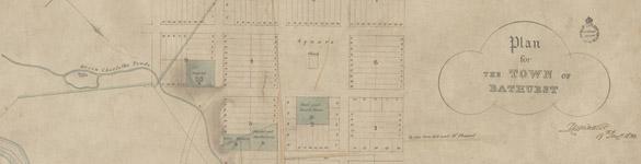 Plan for new Bathurst, 1833