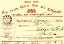Telegram to Alexander Oliver, 1900