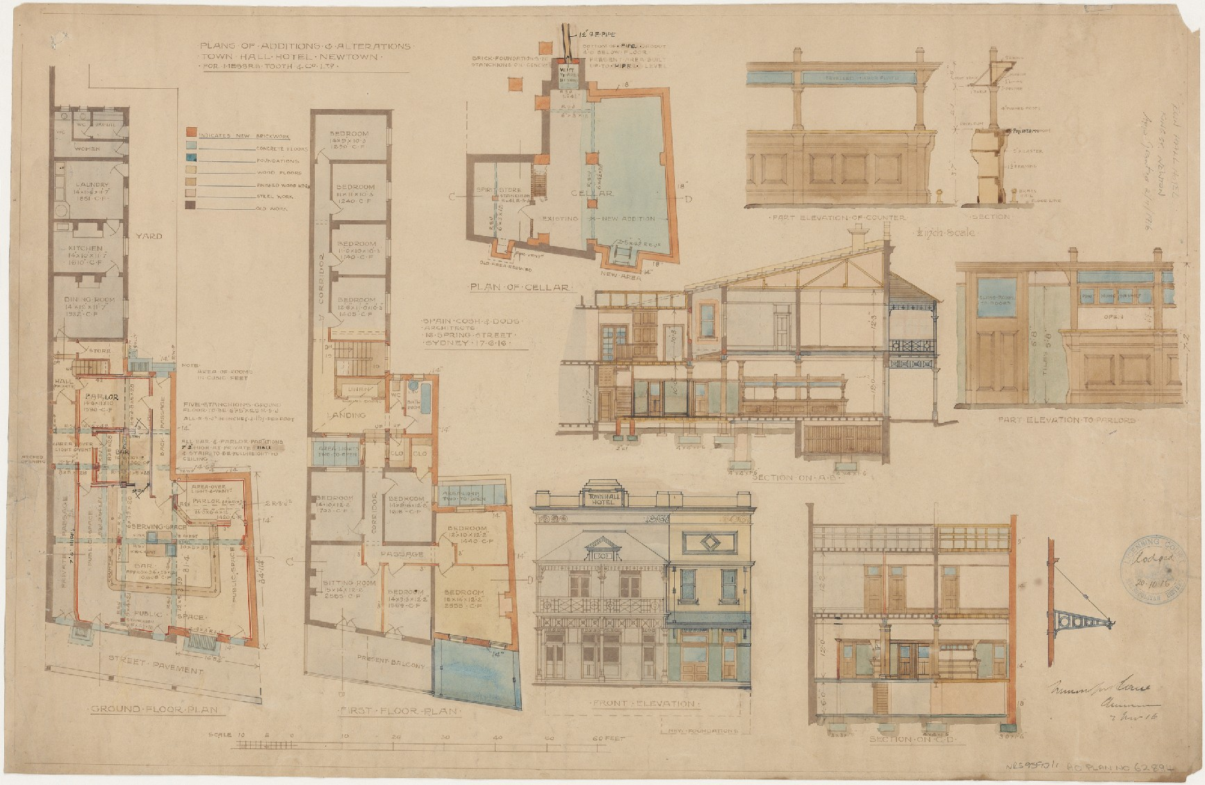 Hotel plans state archives nsw digital gallery for Plans com