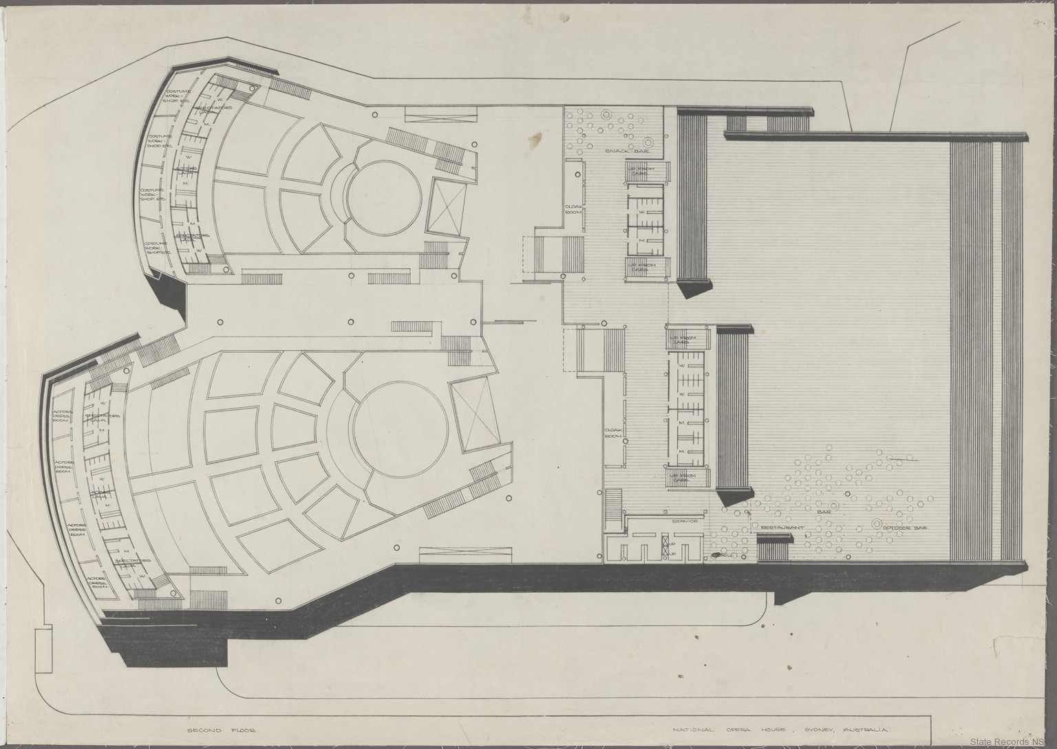 sydney opera house utzon drawings state records nsw second floor nrs 12825 item sz112 04