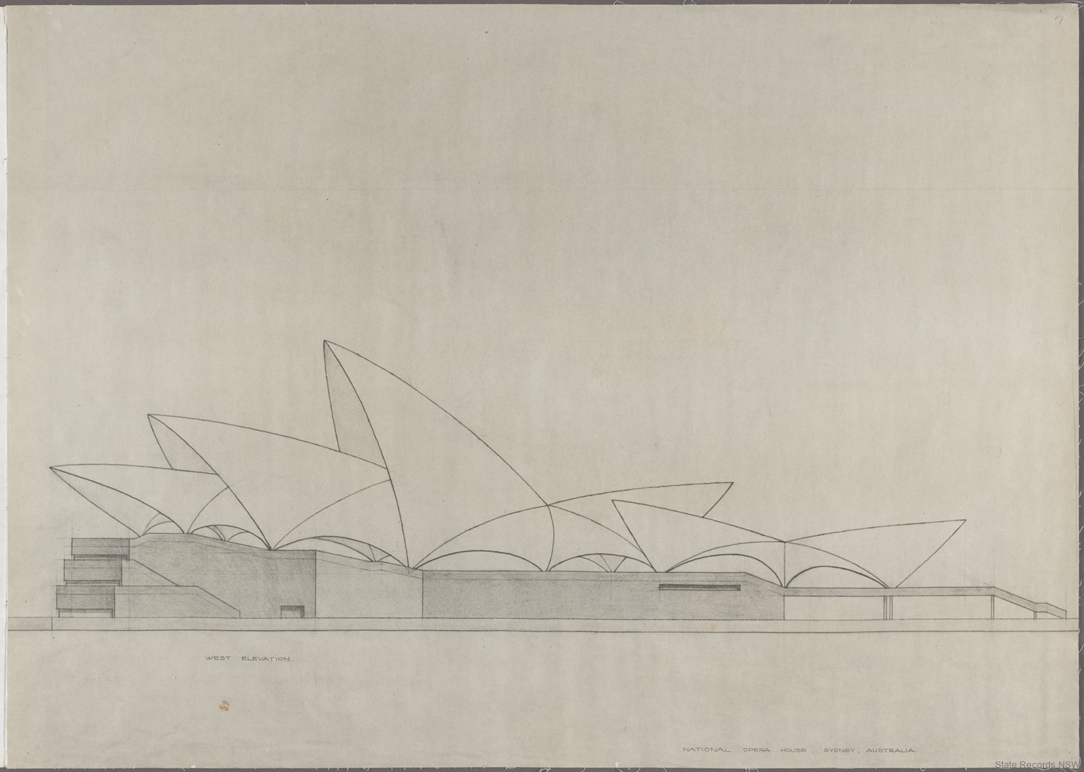 House With Open Floor Plan Sydney Opera House Utzon Drawings State Records Nsw