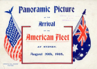 Illustrative souvenir of the American Fleet - flags
