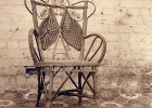 Photo of one of the wicker chairs
