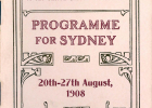 Programme of events. Front cover