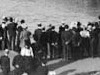 Spectators viewing the US Navy's 'Great White Fleet' in Sydney Harbour