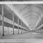 Post- Exhibition, 1880. Nave Looking North. 700 feet long. 50 feet wide and 60 feet high. Photo taken 1st September 1880. NRS 4481 SH1384