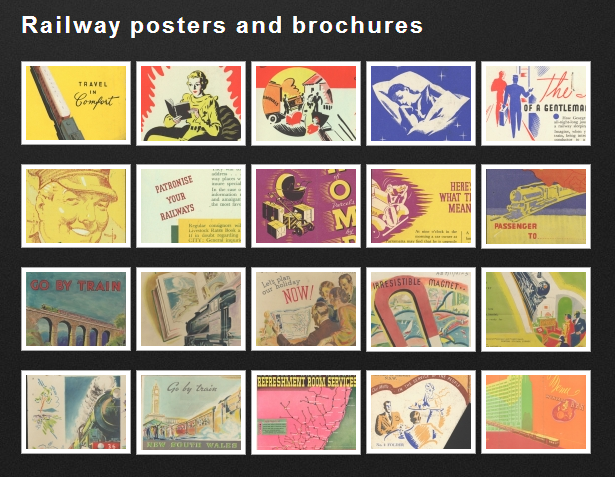Railway posters and brochures