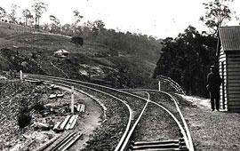 Bottom Points Lapstone (little Zig Zag) Rail Road c1870. Digital ID 17420_a014_a014000721
