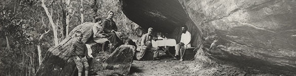 A cave picnic in the Blue Mountains, no date. NRS 4481 [4/8676 glass negative 1853]