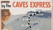 Advertisement for the Caves Express. NRS 16407/1/2[30] Cover for Atop of the Blue Mountains by Caves Express (Fourth Edition)