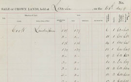 Sale of Crown Lands at Lawson, January 1888. NRS 9149 [10/217]